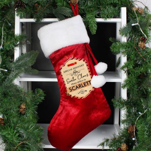Personalized Special Delivery From Santa Christmas Stocking Add Any Name